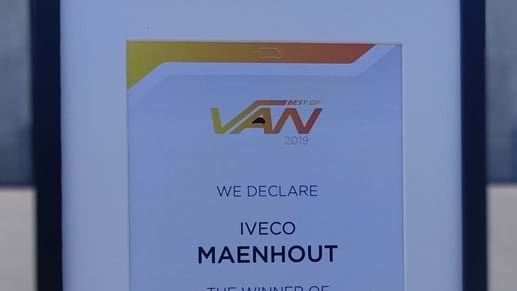 Iveco-Maenhout is Best Dealer 2019 van Iveco!