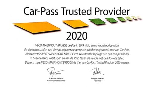 Car-Pass Trusted Provider 2020